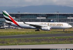 La flota de Emirates está compuesta únicamente por aviones de doble pasillo. Foto tomada de Airliners