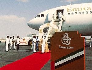 Vuelo inaugural de Emirates. Tomada de la página web de la aerolínea