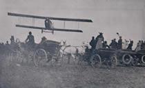 """Vuelo de Knox Martin en Bogotá. Tomado de """"Historia de la aviación en Colombia, 1.911 - 1.950"""""""
