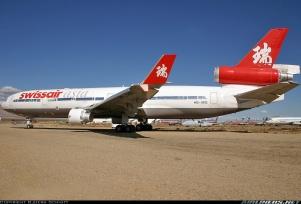 Antiguo MD-11 de Swissair Asia. Tomada de Airliners