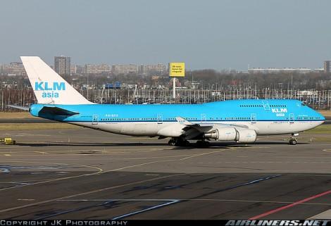 Un Boeing 747 de KLM Asia. De Airliners