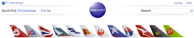 Aerolíneas miembro de Oneworld a Marzo de 2013. Tomado de post de Fenix_2007 en Skyscrapercity