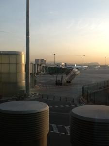 Amanecer en el aeropuerto El Prat