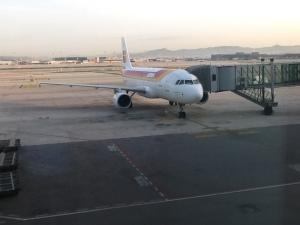 Este A319 fue el encargado del vuelo anterior entre Barcelona y Madrid