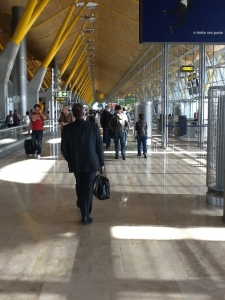Interior del espectacular aeropuerto de Barajas, en Madrid