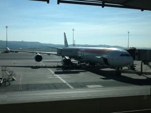El A346 asignado al vuelo de Bogotá