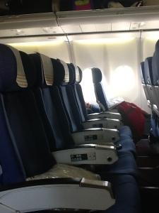 Espacio entre sillas del A346 de Iberia
