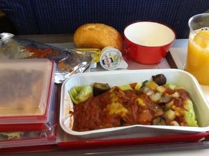 Almuerzo en el vuelo MAD-BOG en Iberia
