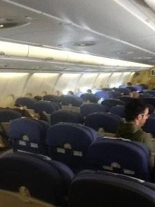 Cabina en la parte final del vuelo