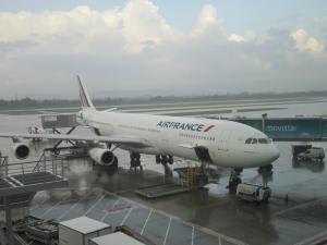 A340-300 de Air France alistándose para ir a París