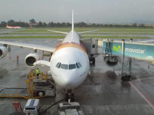 Frente a frente con el A340-600 de Iberia