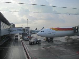 Abordando el A340-600, EC-KZI