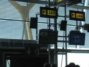 La puerta asignada a nuestro vuelo