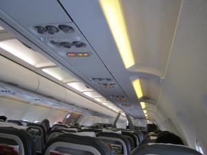 Interior del A321 de Iberia