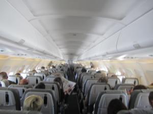 Interior del A321 en vuelo