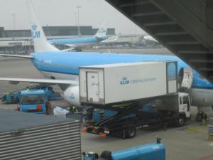 Mi B737-800 siendo preparado para su vuelo a San Petersburgo