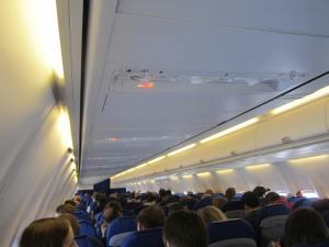La cabina en vuelo