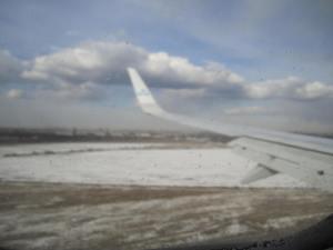 Todo cubierto de nieve. Por suerte no nevó durante los cuatro días que estuve en San Petersburgo
