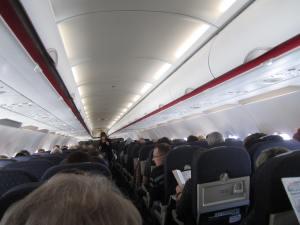 Interior del A320 de Air France