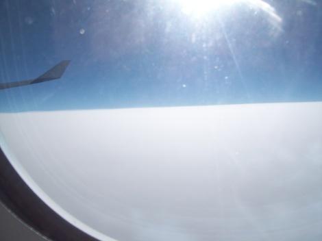 'Colchón de nubes' sobre el Atlántico a bordo de un A340-600 de Lufthansa