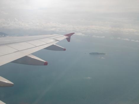 A punto de aterrizar en Panamá a bordo de un A319 de Avianca Brasil, operando el vuelo 058 de Avianca