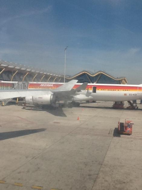 Un hermanito gemelo del A340-600 desde el que tomé la foto, en Madrid Barajas