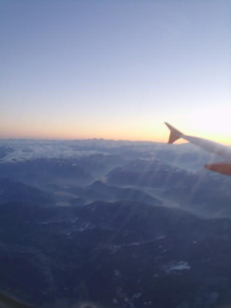 Sobrevolando los Alpes desde un A320 de easyJet