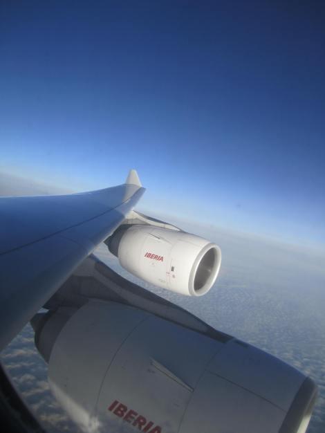 Sobrevolando el Atlántico con dos de las turbinas del A340-600 de Iberia