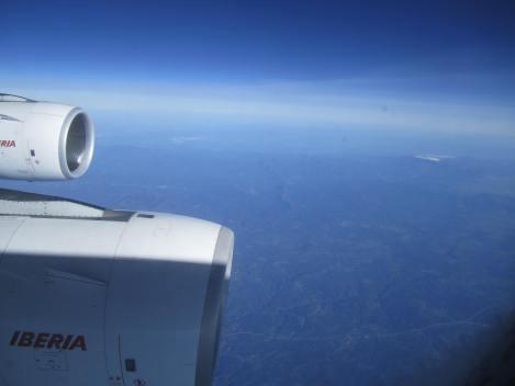 Ya sobre suelo español, desde el A340-600 de Iberia