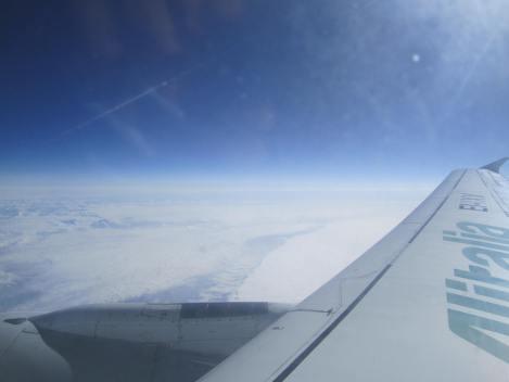 Sobrevolando los Alpes desde un A321 de Alitalia
