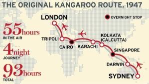 La Kangaroo Route tradicional. De Sydney Morning Herald