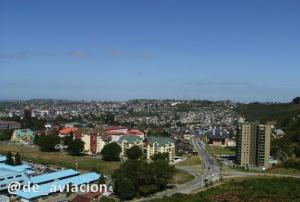 Foto desde una terraza de la fotogénica Puerto Montt
