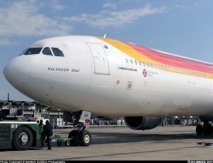 Airbus A340-600 de Iberia en Ezeiza
