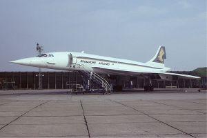 El único Concorde con colores de una aerolínea diferente a British o Air France. De Steve Fitzerald en Wikipedia Commons