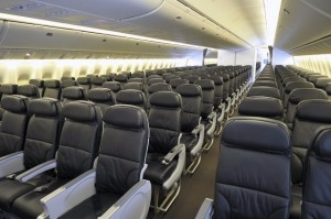 Clase económica del B777-300ER para 458 pasajeros, de Air Canada. Foto de Airline Reporter