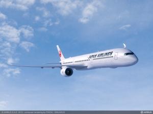 A350 en los colores de JAL. Toda una novedad