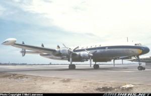 Super Constellation de Lufthansa en Lima, en 1962. Por Mel Lawrence en Airliners