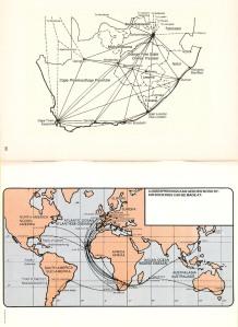 Mapa de rutas de SAA, evitando sobrevolar varios países de África. De SepulTALLICA en Airliners