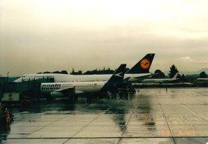 Tomada de Skyscrapercity. B747 de Lufthansa en Bogotá