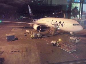 El B767-300ER de LAN asignado a mi vuelo