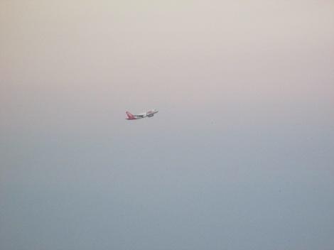 A320 de TAM recién despegado de Santos Dummont visto desde el Pao de Azúcar