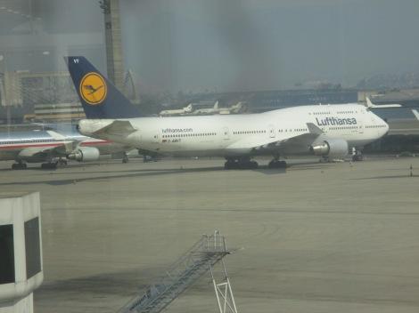B747 de Lufthansa en Rio de Janeiro
