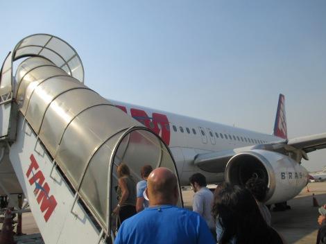 Abordando el A320 de TAM en Rio de Janeiro