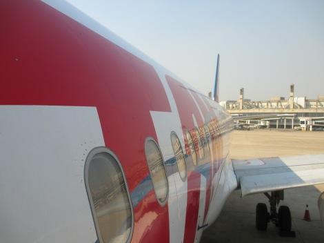 La típica antes de abordar el A320 de TAM en Rio