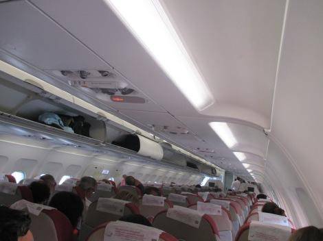 Interior del A320 de TAM