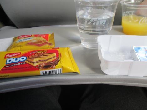 Catering en vuelo de TAM entre Rio y Sao Paulo
