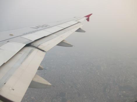 Desde el A320 de TAM sobrevolando Sao Paulo