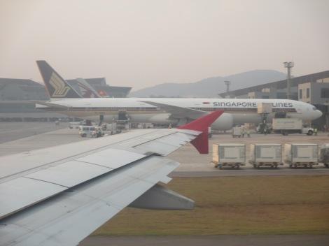 B777-300ER de Singapore Airlines en Sao Paulo